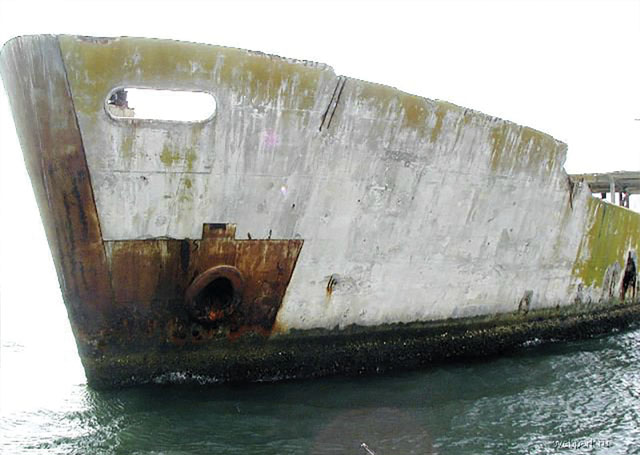 корабли из бетона